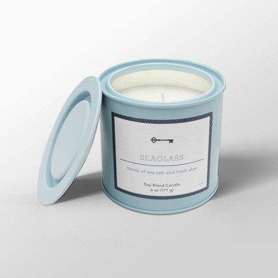 6oz Tin Jar Candle Seaglass - Threshold™