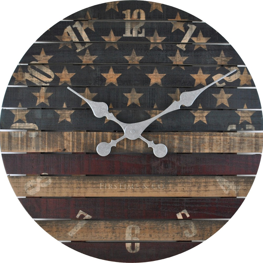 Image of FirsTime Old Glory Wall Clock, Multi-Colored