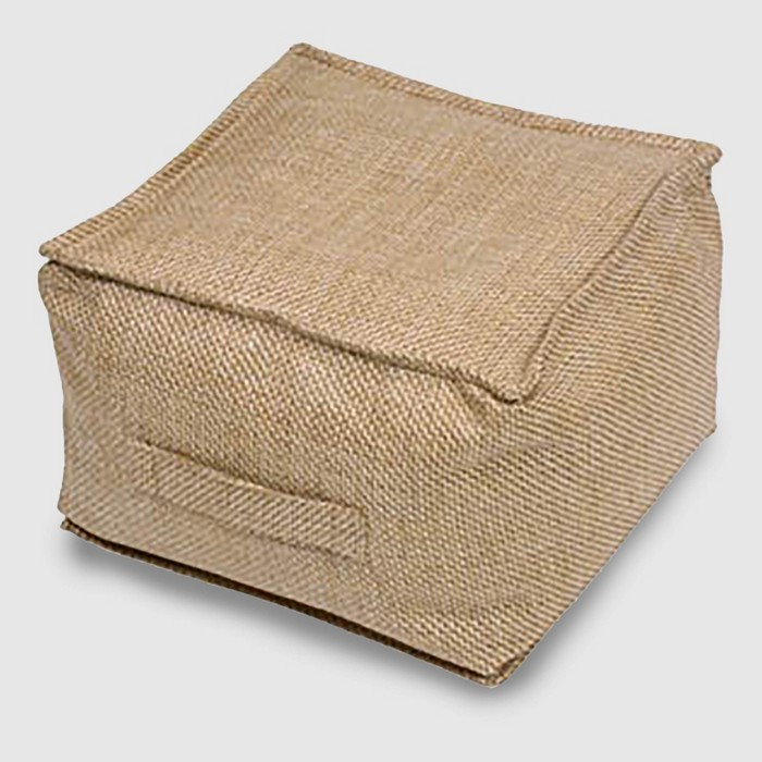 Outdoor Pouf Natural Woven - Threshold™ - image 1 of 8