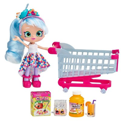 Shopkins Real Littles Chrissy Puffs Shoppie Doll + Shoppin' Cart