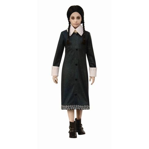 Girls Addams Family Wednesday Halloween Costume