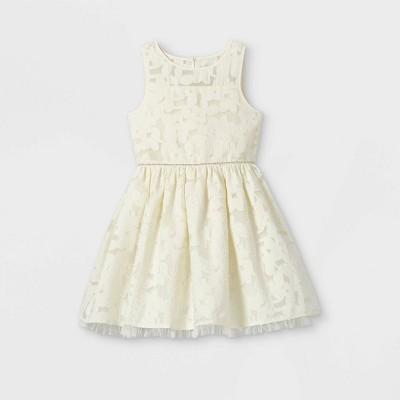 Mia & Mimi Girls' Lace Dress - Cream