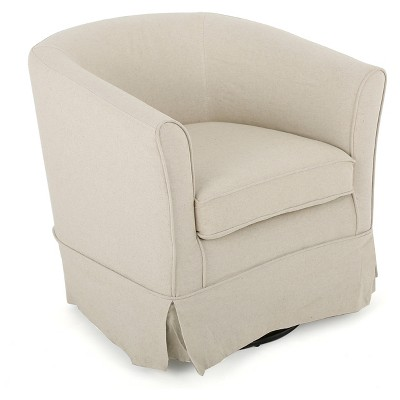 Cecilia Fabric Swivel Club Chair - Christopher Knight Home