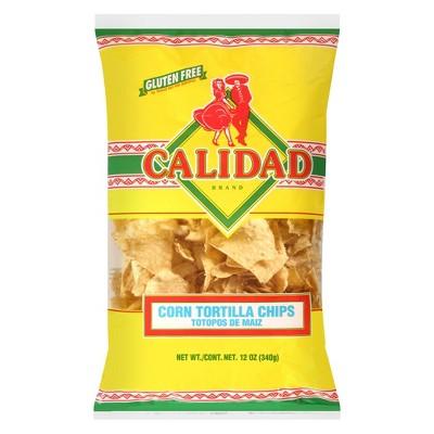 Calidad Yellow Corn Tortilla Chips - 12oz