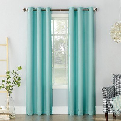 Montego Casual Textured Grommet Curtain Panel Pool 48 x84  - No. 918