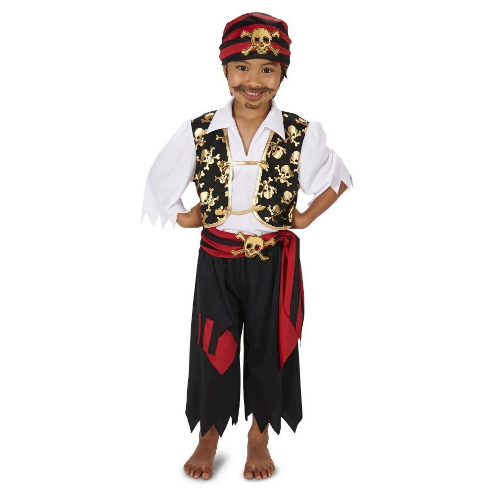 Pirate Kids' Costume S, Boy's, Size: S(4-6), Multi-Colored