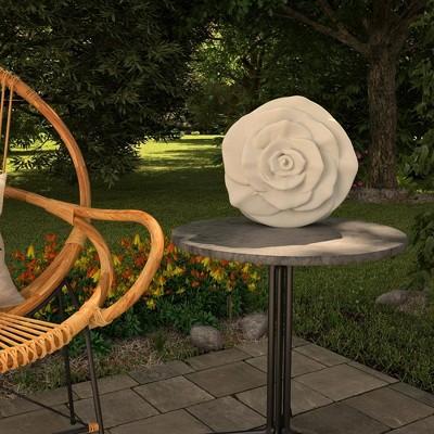 "Cosco 12"" Resin Outdoor Rose Light Sculpture"
