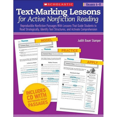 Text-Marking Lessons for Active Nonfiction Reading, Grades 4-8 - by  Judith Bauer Stamper - image 1 of 1