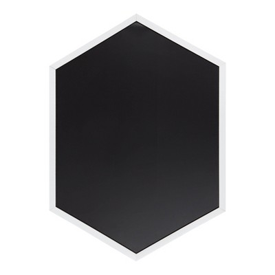 """22"""" x 31"""" Laverty Hexagon Framed Magnetic Chalkboard White - Kate and Laurel"""