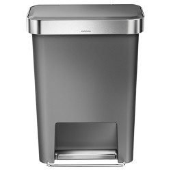 40 Ltr Rectangle Trash Can - Stainless Steel - Threshold™ : Target