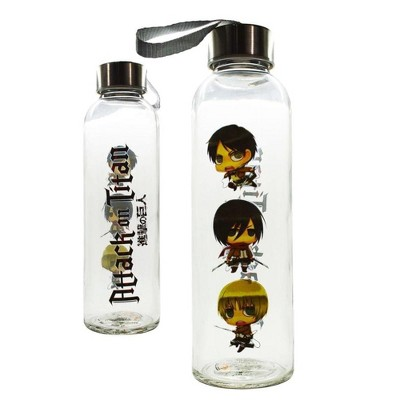 Just Funky Attack On Titan Glass Water Bottle