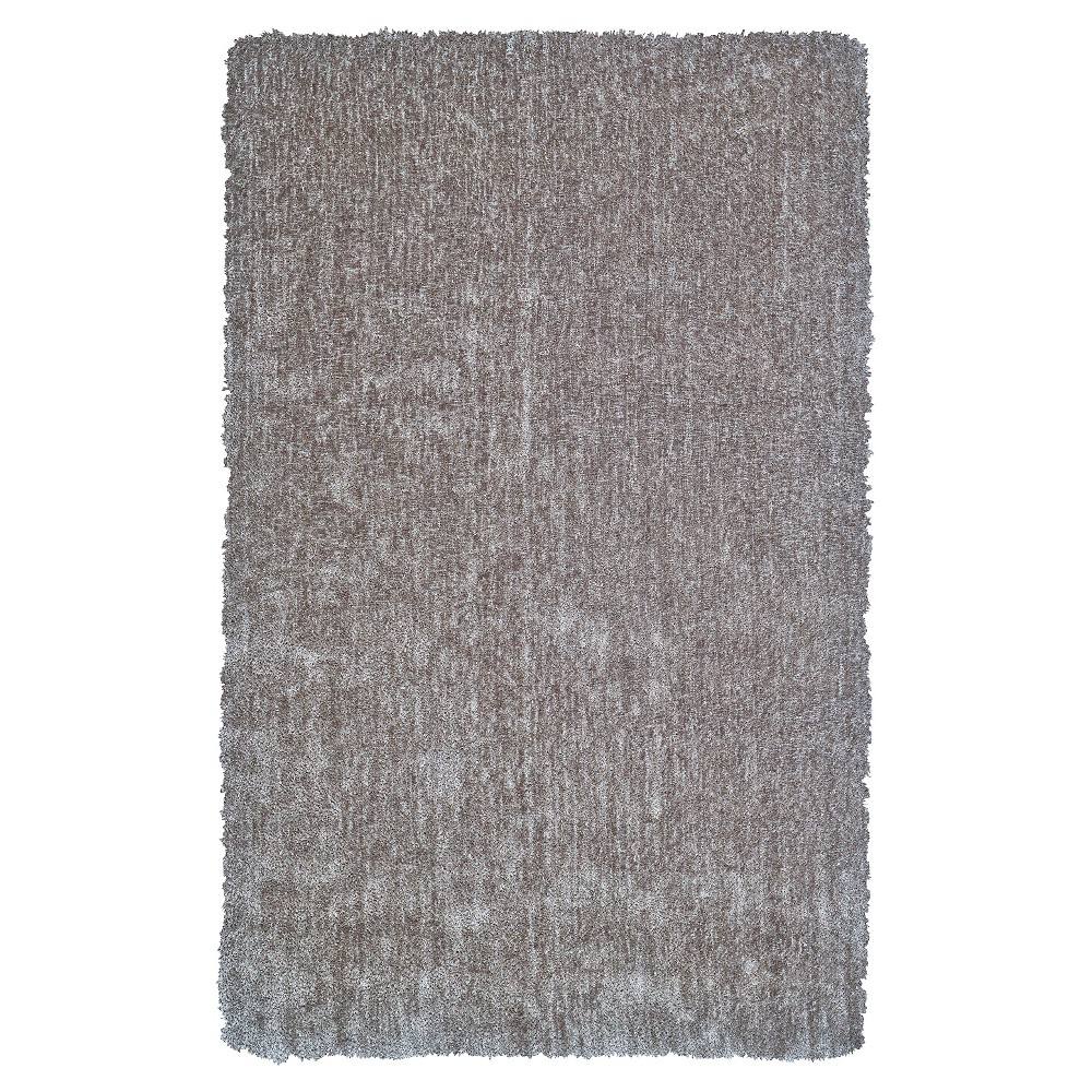 5'X8' Solid Tufted Area Rugs Steel (Silver) - Room Envy