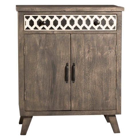 Artesa Two (2) Door Cabinet Distressed Brown Gray - Hillsdale Furniture - image 1 of 2