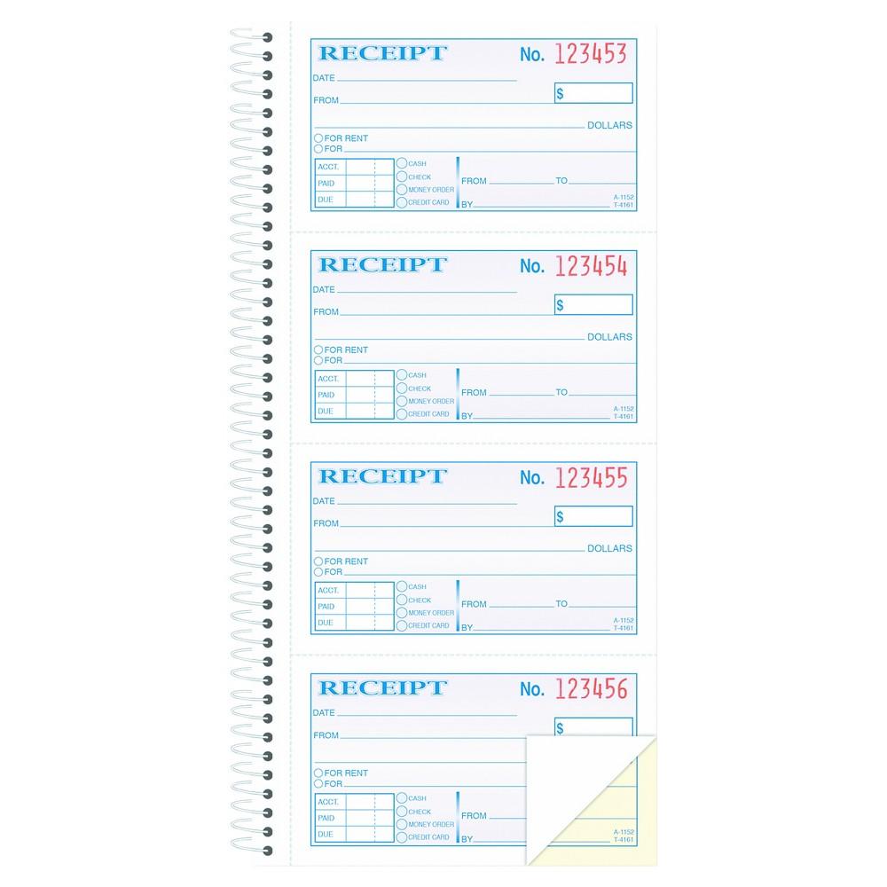 Adams Two-Part Rent Receipt Book, 2 3/4 x 4 3/4, Carbonle...