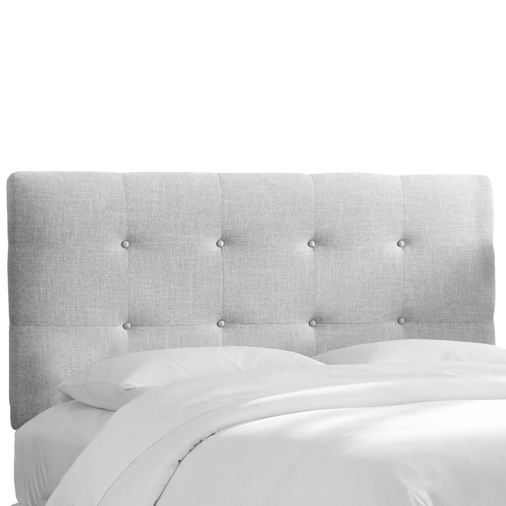 Full Dolce Headboard Pumice Gray Linen - Cloth & Co.