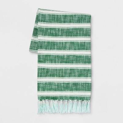 Green Cotton Woven Stripe Throw Blanket 50 X60  - Threshold™