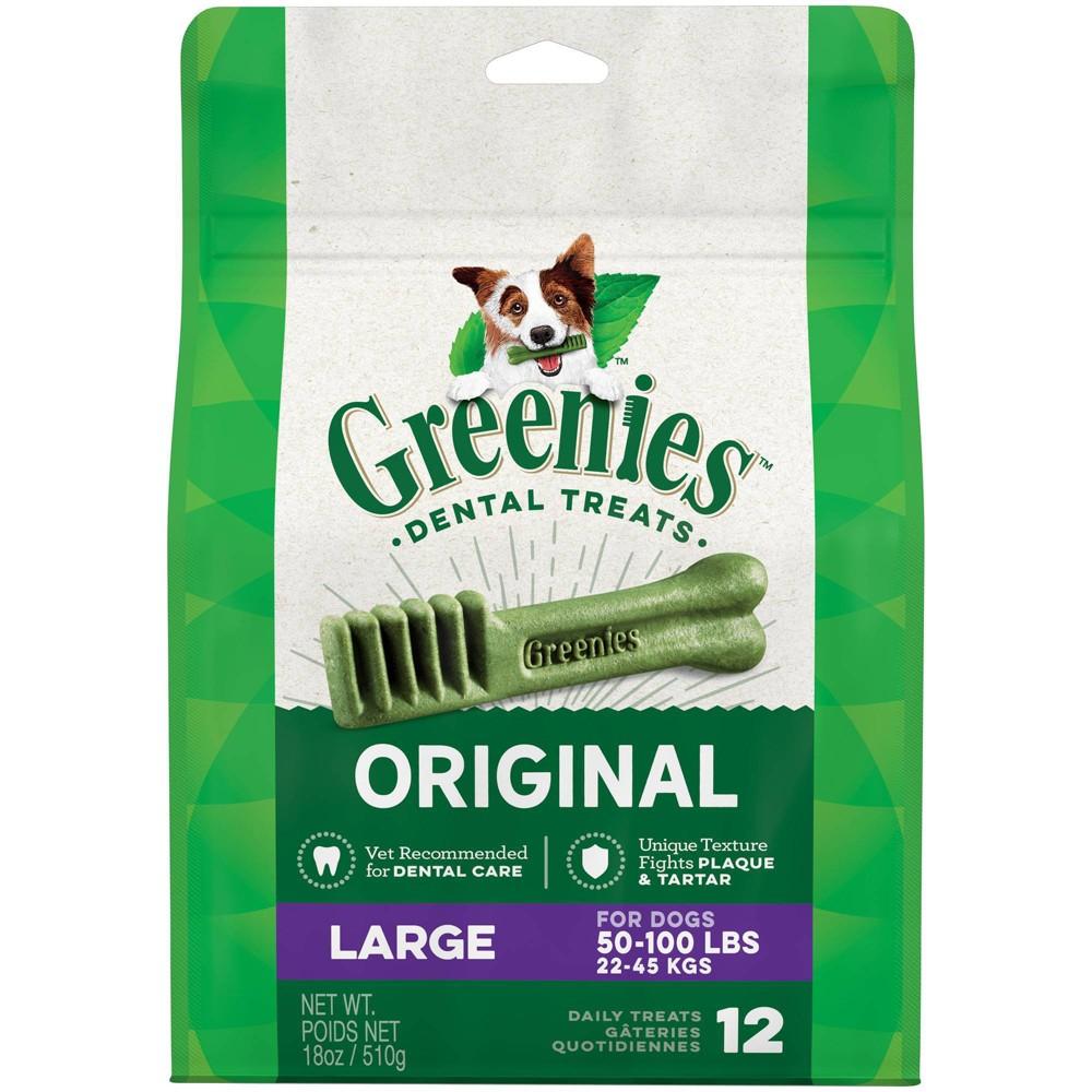 Greenies Large Original Dental Dog Treats - 12ct/18oz