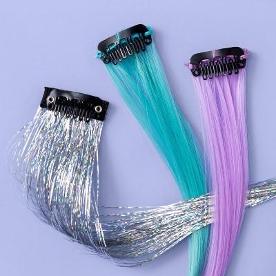 Girls' 3pk Faux Fur Hair Clips - More Than Magic™