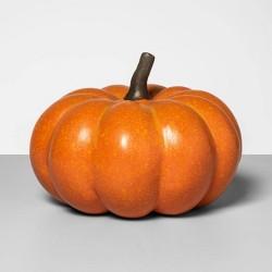 """7.5"""" x 5.5"""" Decorative Papier-Mach Pumpkin Orange - Threshold™"""