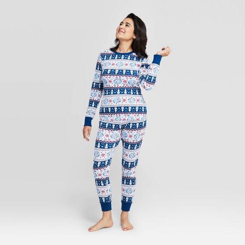 Women's Frozen Holiday Olaf Fairisle Pajama Set - White - image 1 of 3