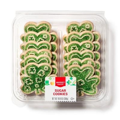 St. Patricks Shamrock Sugar Cookies - Market Pantry™