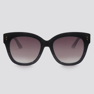 Women's Cateye Plastic Sunglasses - A New Day™ Black