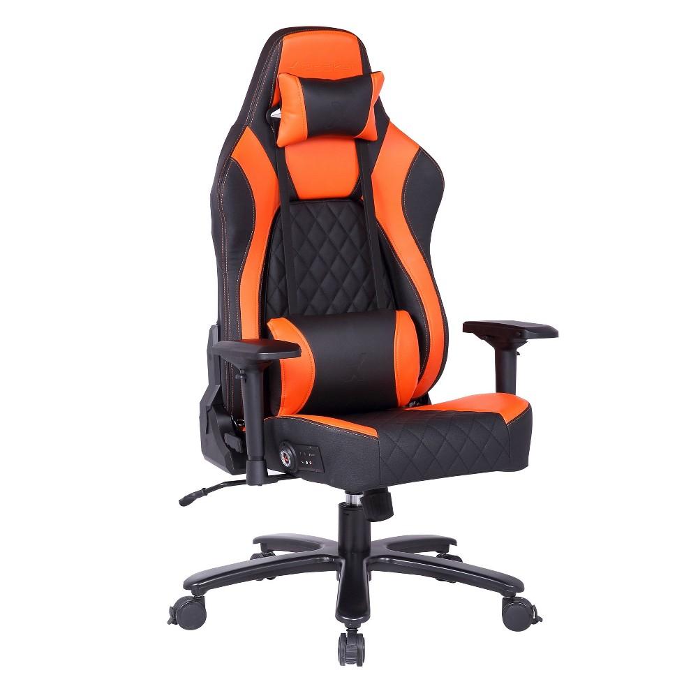 Delta Sound PC Office Gaming Chair Orange/Black - X Rocker, Black Orange