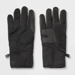 Men's Solid Softshell Glove with Faux Sherpa Lining - C9 Champion® Black
