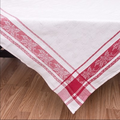 C&F Home Jacquard Holly Table Topper
