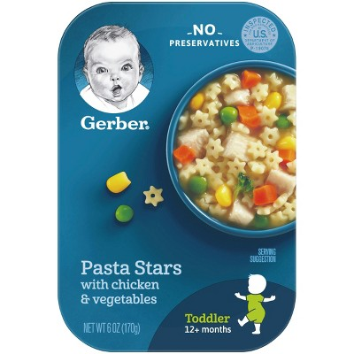 Gerber Lil' Meals, Pasta Stars with Chicken & Vegetable - 6oz