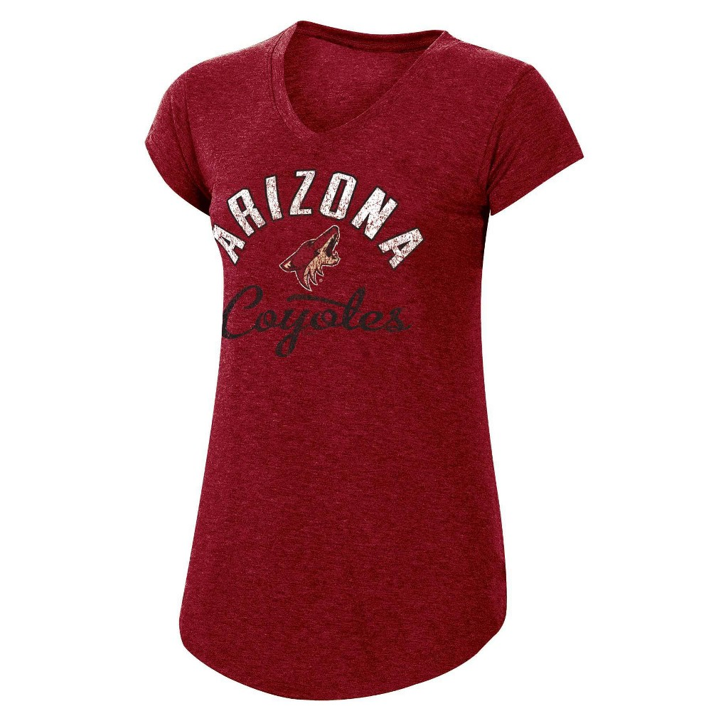 Nhl Arizona Coyotes Women 39 S Team Pride V Neck T Shirt L