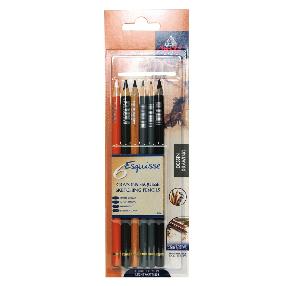 Image of Drawing Pencil Set 6ct - Conte