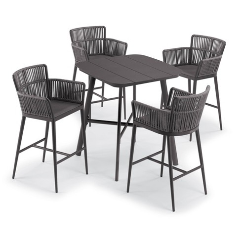 """Eiland 5pc Patio Set with 36"""" Square Bar Table & 4 Nette Bar Chairs - Oxford Garden - image 1 of 3"""