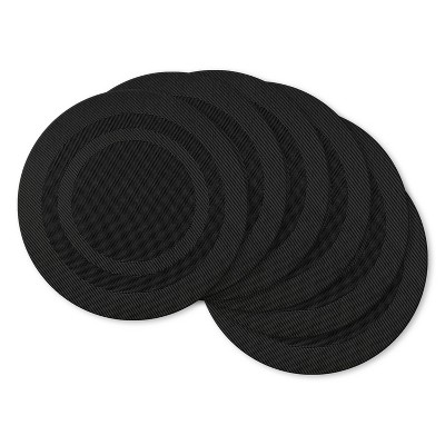 6pc Doubleframe Placemat Black - Design Imports
