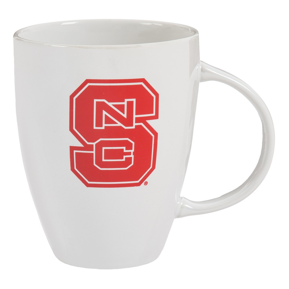 NC State Wolfpack 18oz White Lustre Bistro Coffee Mug