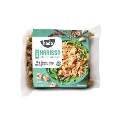 Hodo Plant-Based Organic Spicy Harissa Tofu Cubes - 8oz