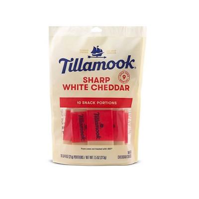 Tillamook Sharp White Cheddar Cheese Snacks - 7.5oz/10ct