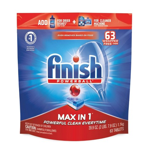 Finish Max-in-1 Dishwasher Detergent Tabs - image 1 of 4