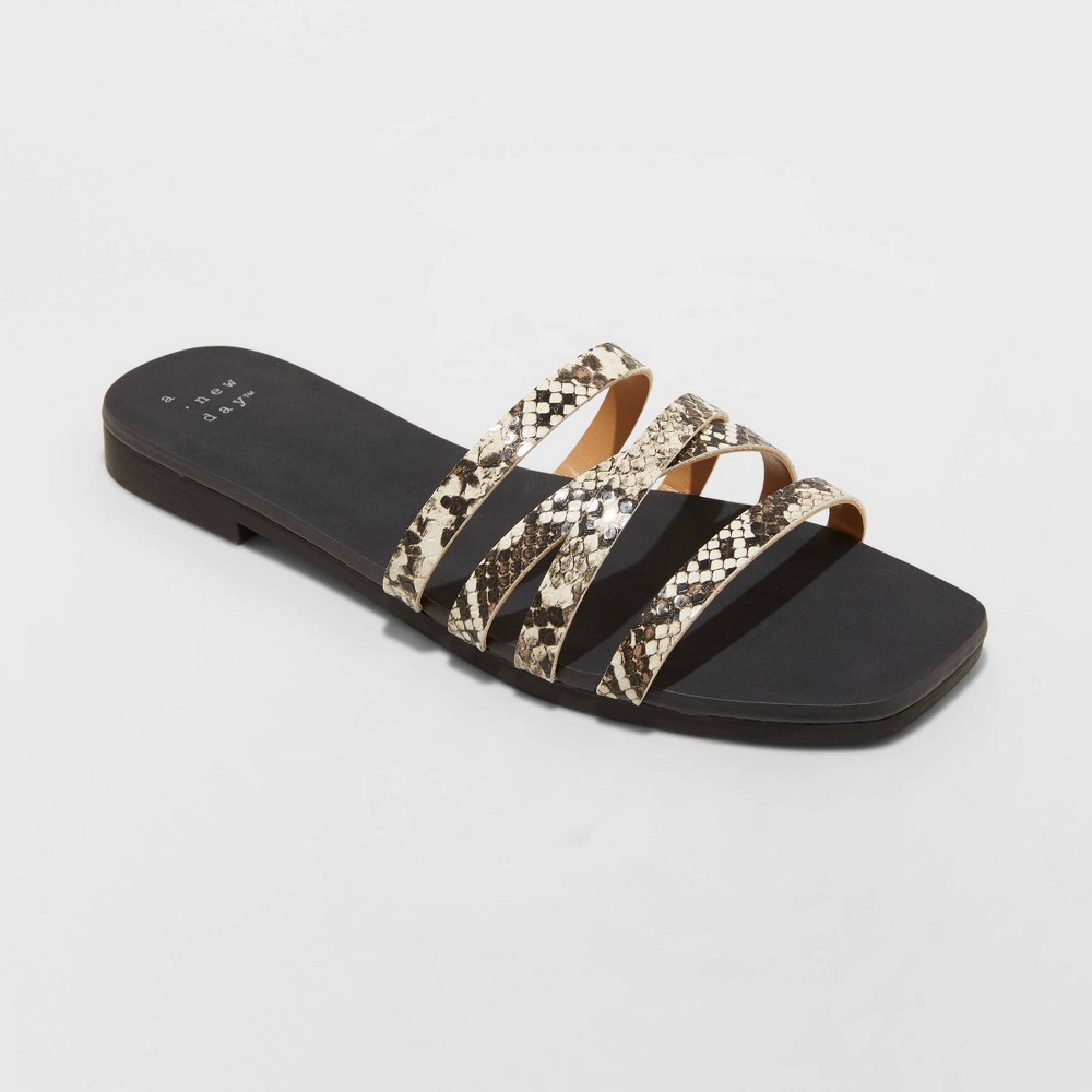 Women 39 S Joan Strappy Slide Sandals A New Day 8482 Gray 7
