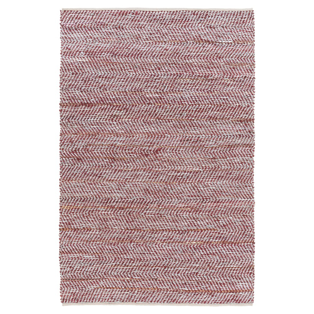 Blue Solid Woven Area Rug - (8'X10') - Surya, Blue/Red