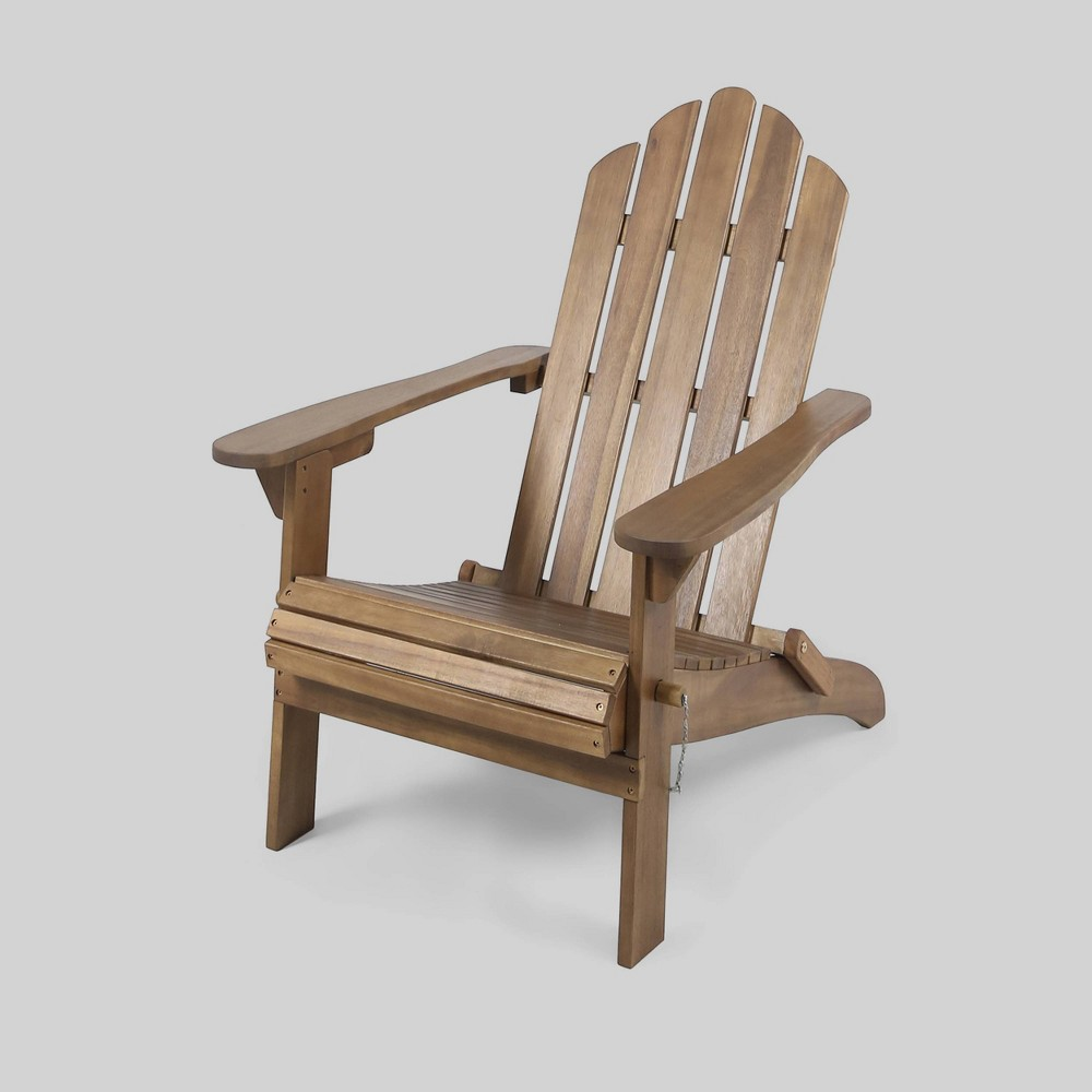 Hollywood Acacia Wood Foldable Patio Adirondack Chair - Brown - Christopher Knight Home