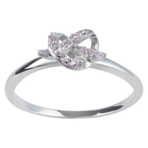 1/8 CT. T.W. Round-Cut CZ Bezel Set Knot Design Ring in Sterling Silver - image 1 of 4