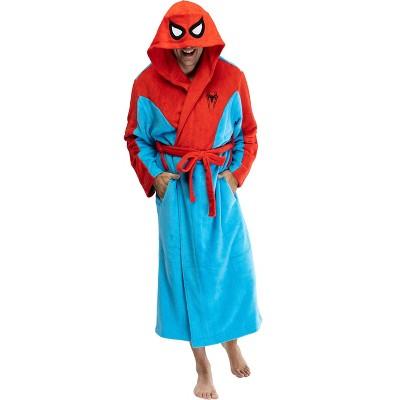 Marvel Spiderman Adult Men's Costume Fleece Robe Bathrobe
