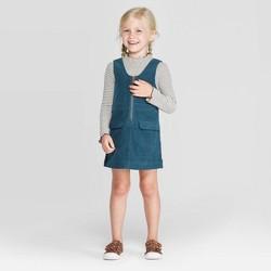 Toddler Girls' Stripe Top and Cord Skirtall Set - art class™ Teal