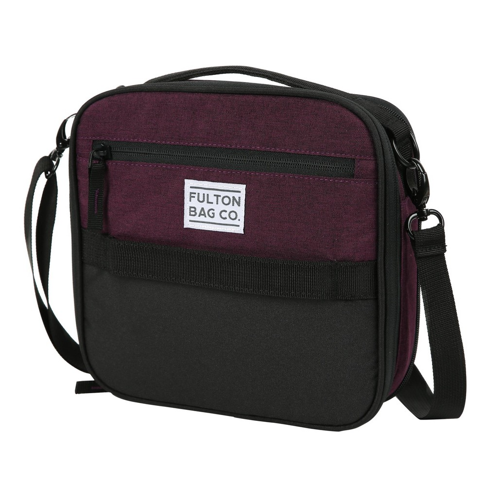 Image of Fulton Bag Co. Expandable Lunch Bag - Plum