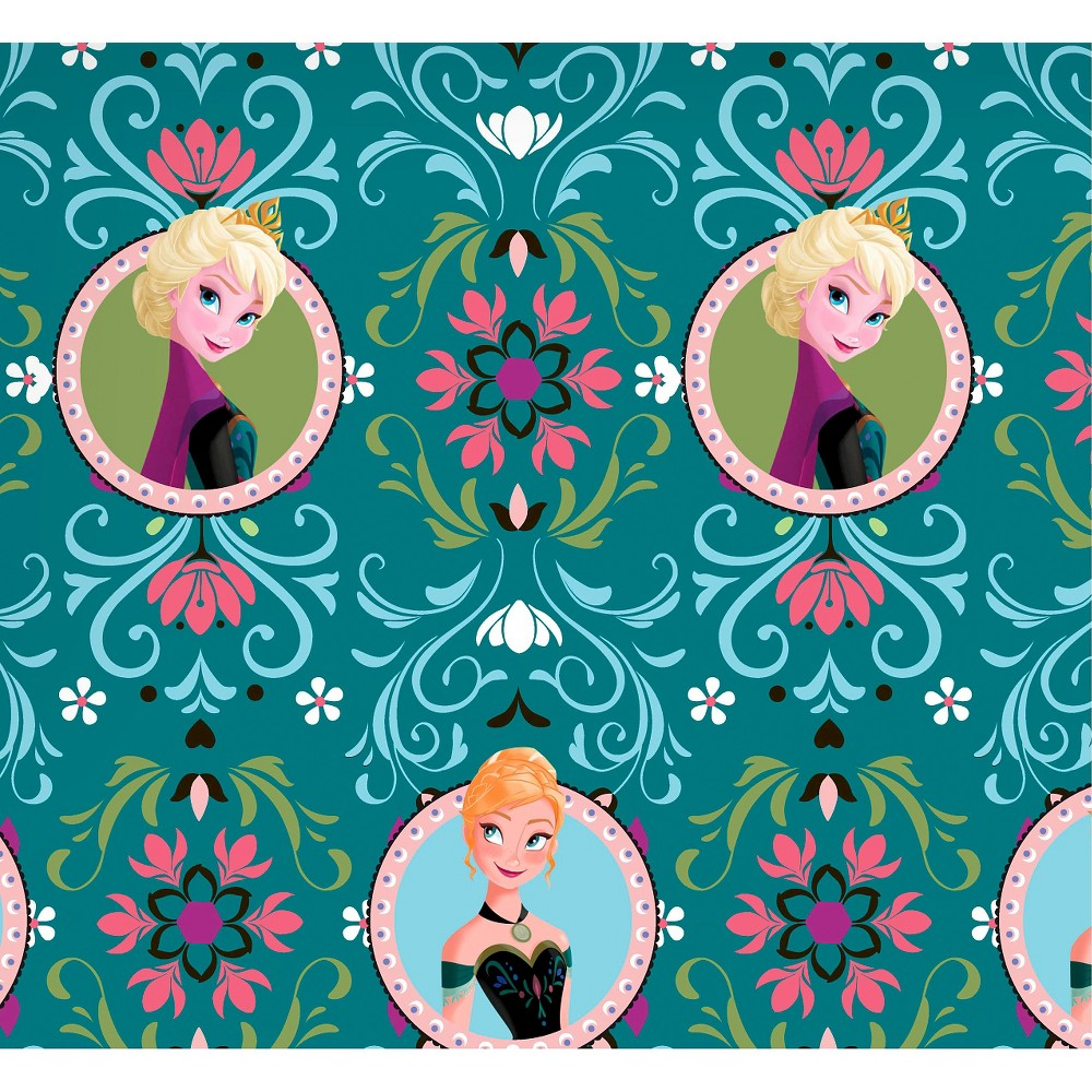 Disney Frozen Anna & Elsa Framed, Teal (Blue), Fleece, 59/60 Width, Fabric by the Yard