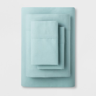 Solid Easy Care Sheet Set (Full)Aqua - Made By Design™