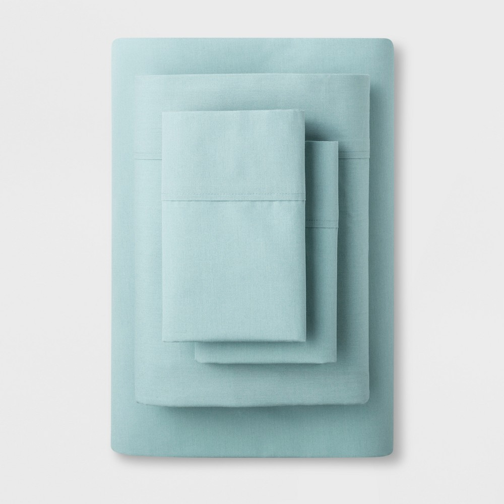 Solid Easy Care Sheet Set (Twin/Twin Extra Long) Aqua (Blue) - Made By Design