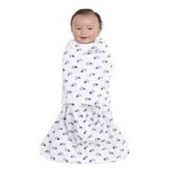 Halo Sleepsack Swaddle 100% Cotton Hedgehog - Navy Newborn