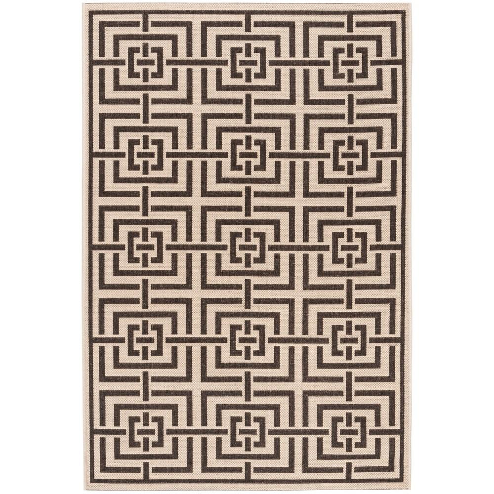 4'X6' Geometric Loomed Area Rug Cream (Ivory) - Safavieh